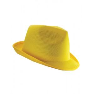 KAPELUSZ TRILBY - Żółty