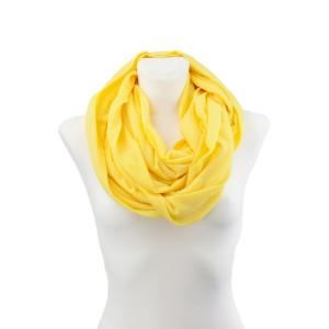 KOMIN Z DZIANINY - Żółty
